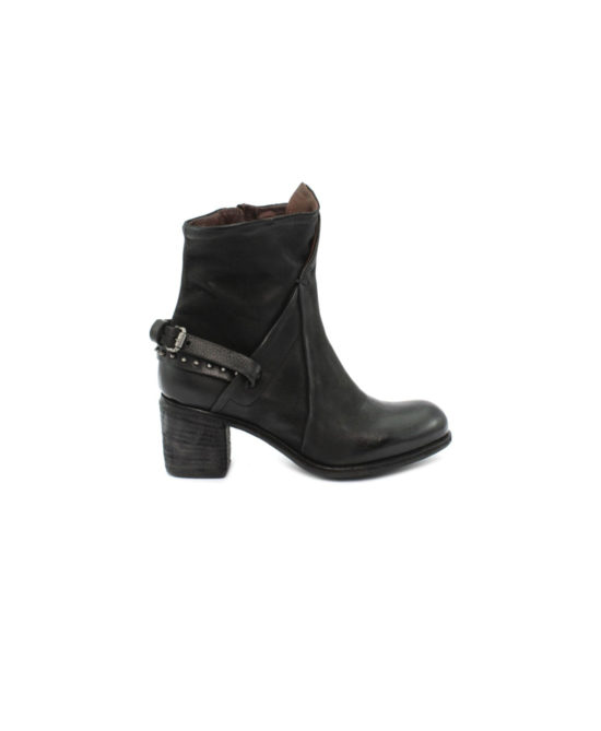 AS98 - Stivali donna in pelle - Art. 597221 Nero