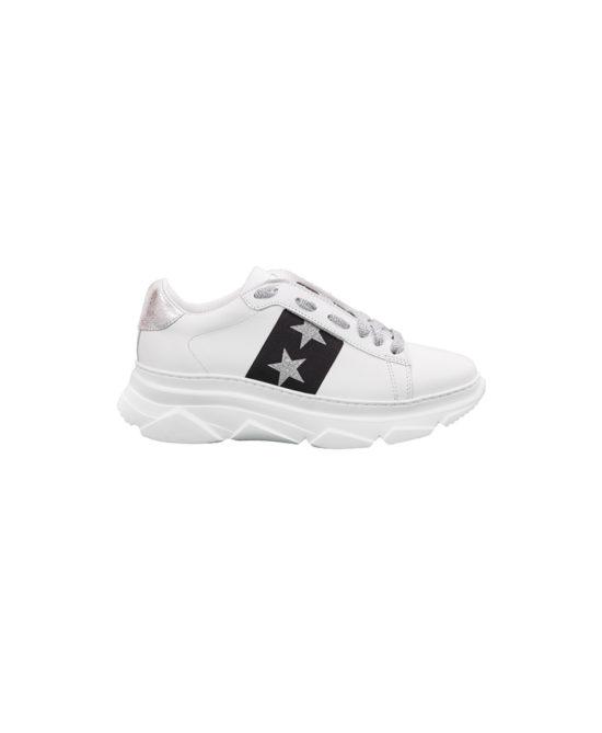 Stokton - Sneakers donna - Art. 650D Stelle Argento