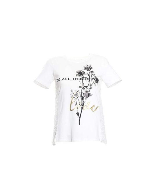 Fracomina - T-shirt Donna - Art. FR20SP327 Cream