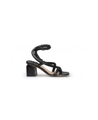 AS98 - Sandali donna in pelle - Art. A16019 Nero
